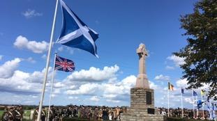 WWI plaque for Scottish soldiers unveiled in Belgium