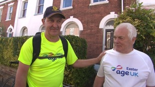 Man walks more than two hundred miles to Exeter for friend with Alzheimer's