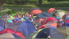 Police have made 13 arrests in the first day of V Festival.