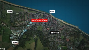 The woman reported being attacked in Cadogan Road, Cromer