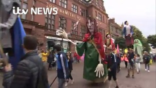 Giant puppet parade launches 10 day celebrations in Carlisle