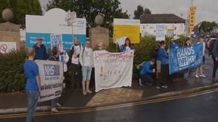Campaigners set off from Dewsbury hospital today