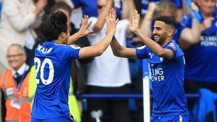 Mahrez inspires Leicester past toothless Brighton