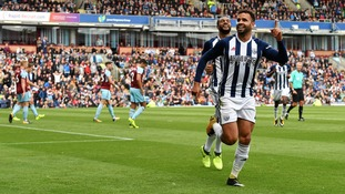 Robson-Kanu scores then gets sent off as West Brom win