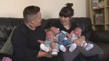 The couple say it's been a dream come true following the birth of their triplets.