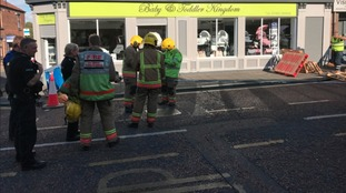 Businesses evacuated as sinkhole opens in Bishop Auckland