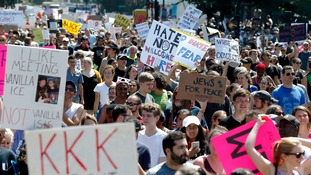 An estimated 15,000 counter-protesters demonstrated in Boston.