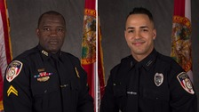 (L-R): Officer Matthew Baxter and Sgt Sam Howard have both died