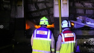 Crews from all over South Essex fought the blaze through the night