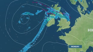 Rain moves NE on Monday.  Southern parts of the region will do better