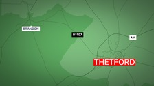 The young motorcyclist died just outside Thetford
