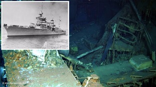 USS Indianapolis warship found 72 years after it was sunk in WWII