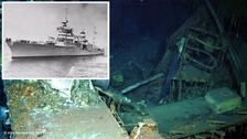 Historic WWII warship found 72 years after it was sunk