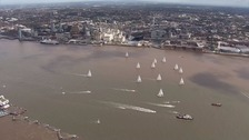 Round the world yacht race gets underway from Liverpool
