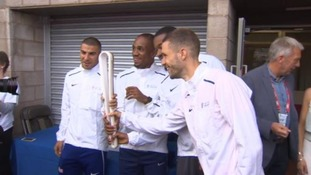 The baton has been on display at Birmingham's Alexander Stadium.