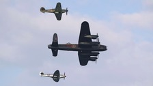 The Battle of Britain Memorial Flight was grounded by engine checks