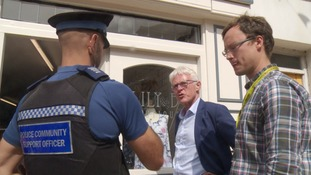Local MP Norman Lamb went to the town to offer his support