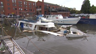 Boat destroyed in suspected gas canister explosion