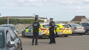Police kept up a high presence in the town after the weekend of minor disturbances