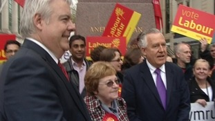 Carwyn Jones, Heather Joyce and Peter Hain