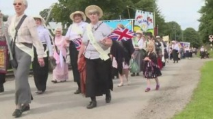 Durham Women's Institute mark 100 years with parade through Beamish Museum