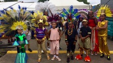 Children ready for the Carnival King and Queen Show