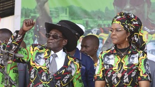 Grace Mugabe, right, was accused of assaulting a model.
