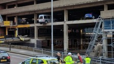 Cars left hanging after car park collapses in Nottingham