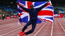 Sir Mo Farah signs off in style in final track race