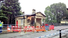 Toll lodge on Bath bridge 'significantly damaged' by accident