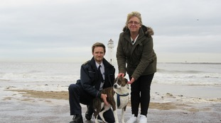 Woody with Theresa and Inspector Joynes from the RSPCA.
