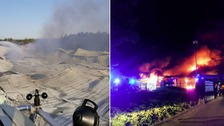 Investigation underway after Essex warehouse destroyed by fire