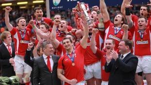 Wales celebrate the 2012 Grand Slam