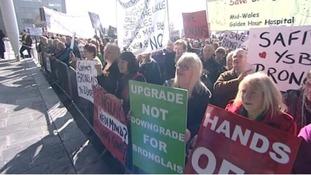 Bronglais Hospital protest