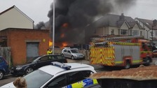 Crews tackle fire at car workshop in Shirley