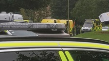 Armed police deployed to address in Andover