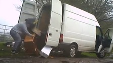 Fly-tipper hit in the face by bags rubbish he was trying to dump