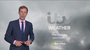 Monday's lunchtime weather for the east of the region