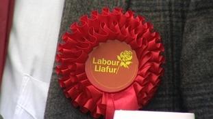 A Labour rosette