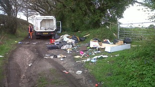 Jamie Humpage has jailed for six months for eight fly-tipping offences.
