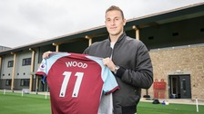 Chris Wood has joined Burnley for a club record fee.