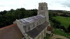 A Norfolk church after thieves stole lead