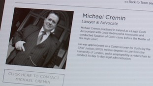 Cremin said that he had a law degree from the University of London.