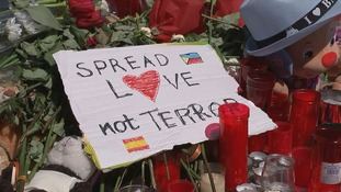 'Spread love not terror' is the message in Spain.