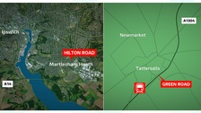 Four people seriously injured after series of stabbings in Suffolk