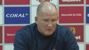 Simon Grayson speaking to the press