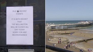 Norfolk police were warned before group's arrival which saw Cromer put into weekend 'lockdown'