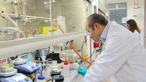 Scientists in the laboratory in Surrey