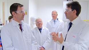 Lawrence McGinty with Jeremy Hunt and team of dementia researchers
