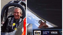 Driver David Tremayne flipped his jet dragster